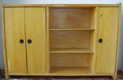 Игрушечный кукольный большой деревянный шкаф,  3 отделения,  СССР
