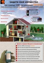 Сигнализация GSM без оплаты для дома,  квартиры,  дачи