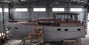 Строящаяся стальная экспедиционная океанская яхта