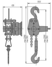 Механизм тяговый монтажный г/п 0, 5 тонн (МТМ-0, 5) 1, 5 тонн (МТМ-1, 5)