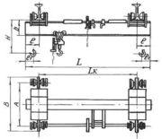 Кран (кран-балка) подвесной  ручной однобалочный  г/п 1-10 т