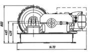Лебедка электрическая монтажная ЛМ–5,  ЛМ-5А ,  грузоподъемность 5 тонн.