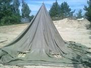 навесы, тенты брезентовые, палатки  любых размеров, пошив