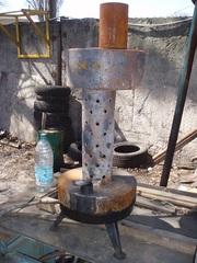 Печь на отработке (отработанном масле). Одесса.