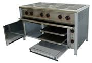 Плита промышленная БЮДЖЕТ с духовкой для кафе и столовой