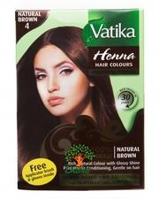 Краска для волос на основе хны Vatika Natural Brown (Коричневая) Дабур