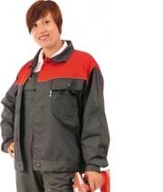 Куртка СТРОИТЕЛЬ -1 с ПВХ.,  грета,  т-серый/красный