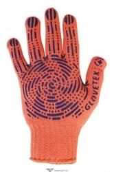 Перчатки трикотажные с ПВХ оранж
