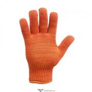 Перчатки трикотажные,  ОРАНЖ,  двойные (130х+130с),  утеплен.