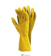 Перчатки латексные хозяйственные,  RFROSE (Y) 0, 4мм,  цвет: желтый