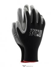 Перчатки нейлоновые АГАТ с ПУ покрытием,  RTEPO,  черный
