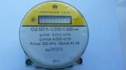 Компактный газовый счетчик с  электронным счетным устройством,  коррект