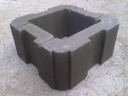 Шлакоблок для столба или камень столбовой от производителя