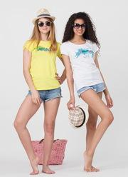 Женская футболка с принтом оптом. Без предоплат. (44-50 S-M-L). ТМ BALLET GRACE