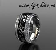 Золотое кольцо с эмалью заказать