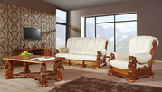 Одесса Классический кожаный диван Meble-pyka имеющий в качестве основы