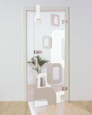 Стеклянные двери под заказ