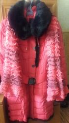 Продам женский пуховик,  пальто-куртку