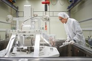 Рабочий на заводе LG Chem в Польше