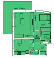 Просторная квартира в новом ЖК