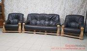 Кожаный комплект мягкой мебели из Европы 3+1+1