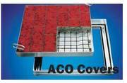 Технологоческие люки ACO из аллюминия для пешеходной зоны.